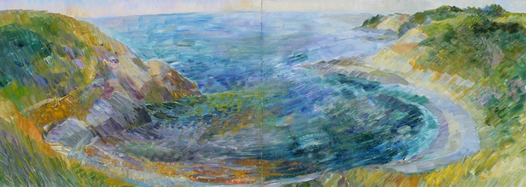 Irene Hoffar Reid ~ 1960<br />24 in x 60 in  ~ oil on panel