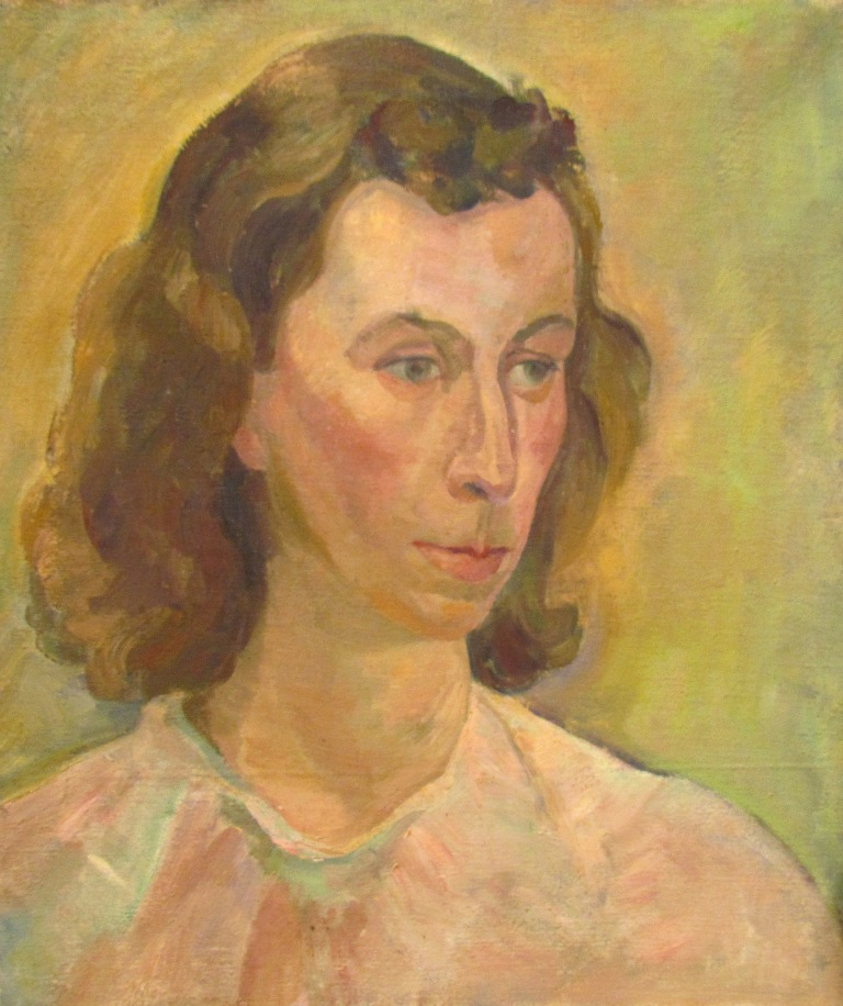 Irene Hoffar Reid ~ 1940<br />16 in x 13.5 in  ~ oil on canvas